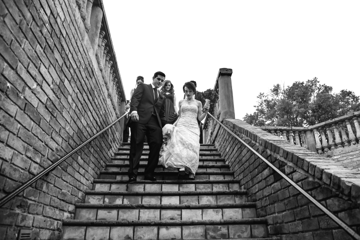 Connor Wedding descend stairs (1 of 1)