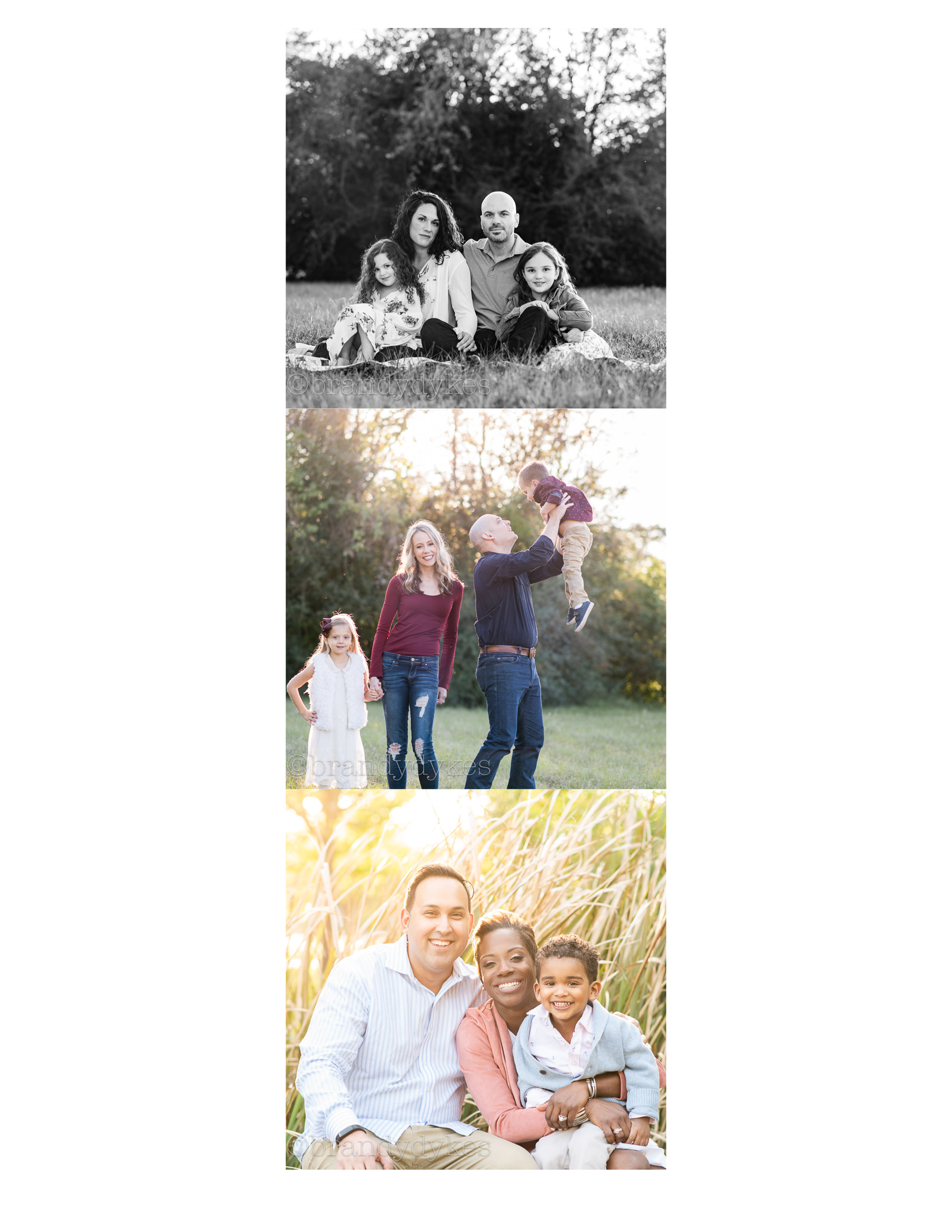 Cypress Texas Family Photographer, Fall Family Photos, Brandy Dykes Photography, Houston Family Photographer, Three families with young children in Cypress have their portraits taken.